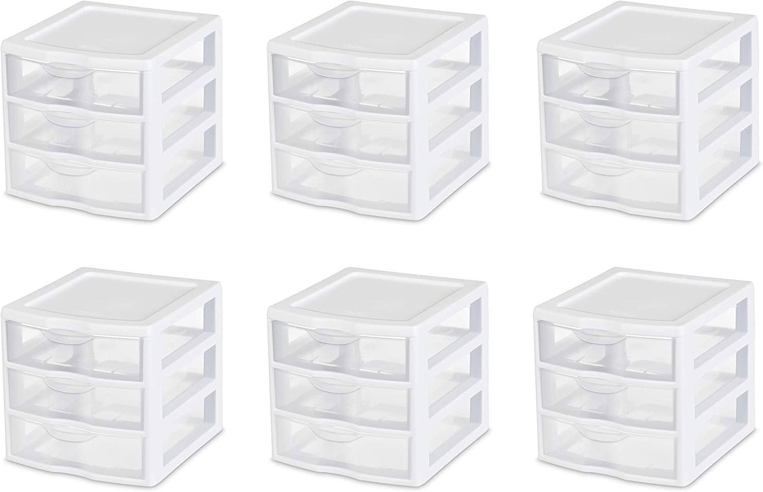 MISC Case of Max 56% OFF 6 Small Plastic Stacking Drawer Clear Units Large special price