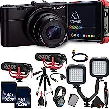 Sony Cyber-Shot DSC-RX100 II Digital Camera Advanced Vlogger Kit 4k Recorder + Sony Headphones International Model
