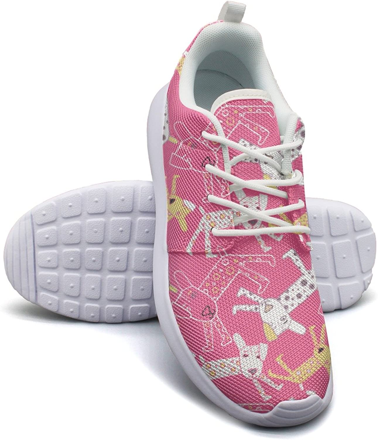Cartoon Spotted Dog Running shoes Women Wide size 6