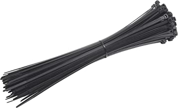 Meister Kabelbinders - Praktische set - 100 stuks - zwart - 300 x 4,8 mm - stevig nylon - UV-bestendig - duurzaam & robuus...