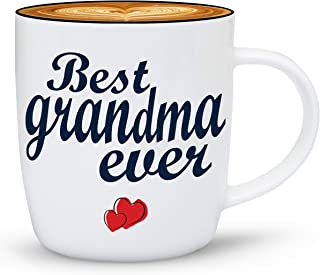Gifffted Worlds Best Grandma Coffee Mug Gifts From Grandson Granddaughter, Funny Mugs Presents For Greatest Grandparents Day Gifts, Christmas, Mothers Day For Great Grandma, Gift Cups Ceramic V1