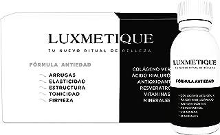 Luxmetique Fórmula Antiedad - nutricosmético para cuidar y rejuvenecer la piel con Colágeno hidrolizado. Ácido Hialurónico. Antioxidantes y Vitaminas. Resultados a corto plazo en piel. pelo y uñas.