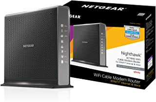 NETGEAR Nighthawk AC1900 (24x8) DOCSIS 3.0 WiFi Cable Modem Router Combo For XFINITY Internet & Voice (C7100V) Ideal for Xfinity Internet and Voice services