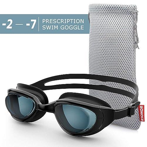 84c82e9d67 ZIONOR G7 Nearsighted Swimming Goggles Corrective Myopic Optical Swim  Goggles No Leaking Anti-fog 100