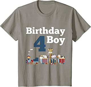 Enfant Train 4th Birthday Party Outfit for Boys T-Shirt