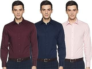 Marks & Spencer Men's Regular fit Formal Shirt (Pack of 3)