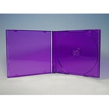 カラー CDケース1枚収納 5PACK / クリアパープル