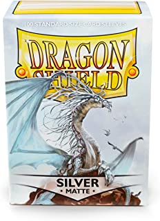 Arcane Tinman Sleeves: Dragon Shield Matte Silver, One Size AT-11008