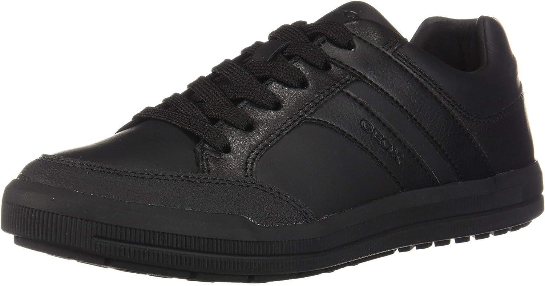 Geox Mens J Arzach B. D Lace Up Trainer Black Size UK 6.5 EU 40
