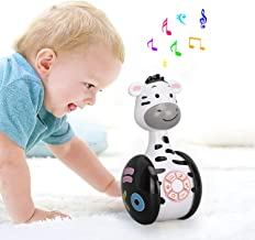 Early Education Music Story Machine, Tumbler Baby Musical Toy, Roly-Poly Rattles Shaking Toys with Light , Animal Sound,Song,Number 1-9,Children's Educational Toys for 3+ Months Infants Kids Toddler