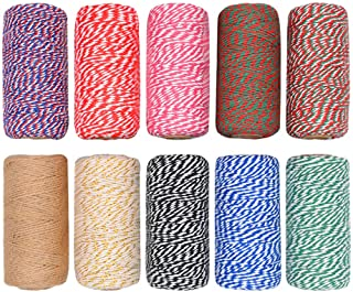 OxoxO 5MM x 50M Natural Strong Jute Twine Rope for Arts Crafts DIY Decoration Tags Present Wrapping Gift Packaging Bundling and Gardening
