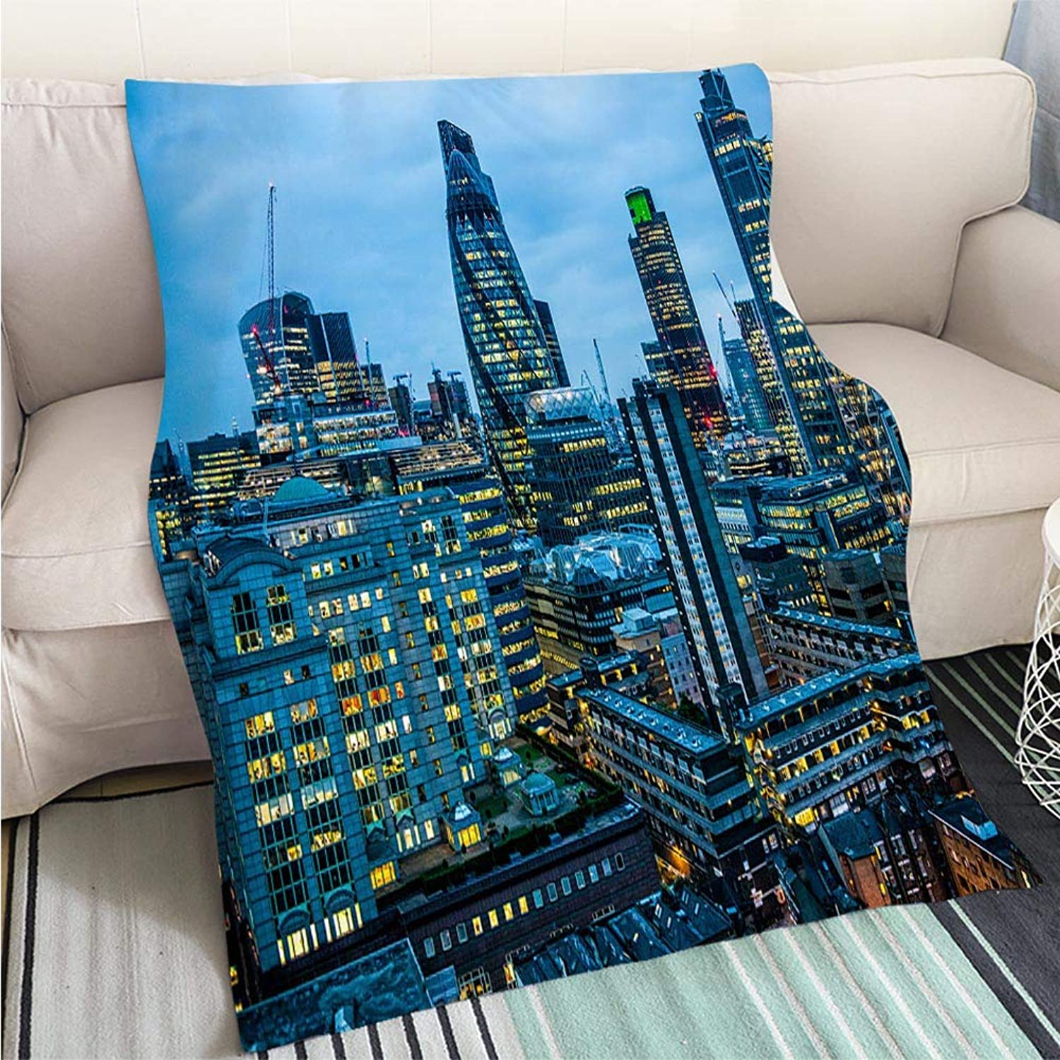 Art Design Photos Cool Quilt London England City Scape Perfect for Couch Sofa or Bed Cool Quilt