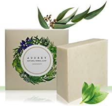 Audrey Handmade Natural Herb Bar Soap (Tea Tree Oil & Houttuynia Cordata, 1 pack)
