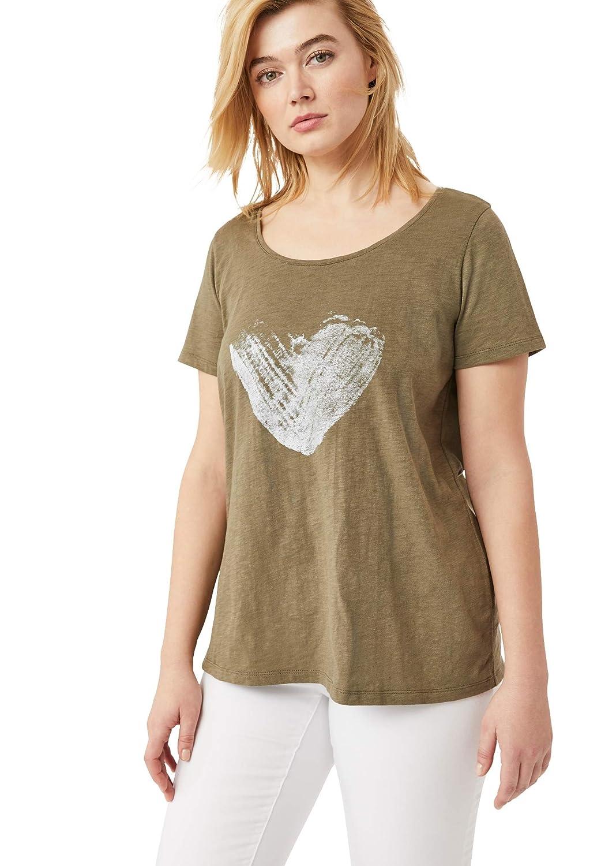 ellos Womens Plus Size Love Tee Shirt