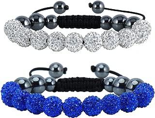 Disco Bracelet Knot Beaded Bangle Bracelet Girls Braided Wedding Bracelets Mothers Day Pave Bracelets