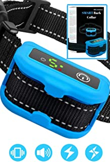 Smart Bark Collar for Dogs - 5 Adjustable Sensitivity Levels of Vibration and Static Shock - Upgraded Dog Shock Collar with Barking Detection Technology - Barking Dog Deterrent for Small, Large Dogs