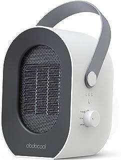 dodocool Calefactor Eléctrico, Mini Calefactor Baño, 3 Segundos Calentamiento Rápido, 1/2/3/6 Horas Tiempo Preestablecido,...
