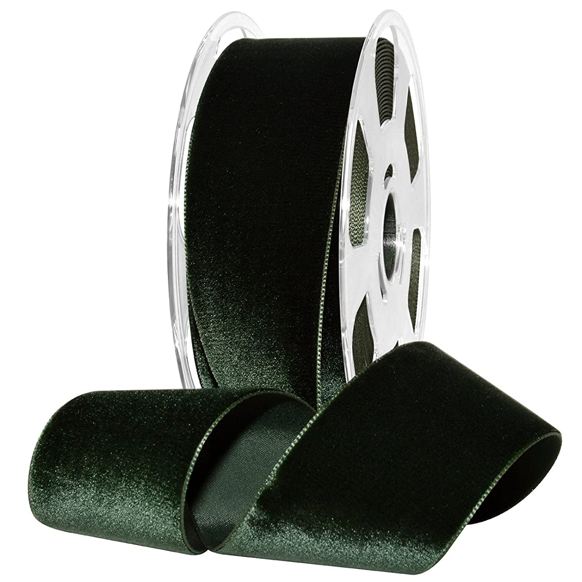 Morex Ribbon Nylon, 2 inches by 11 Yards, Forrest, Item 01250/10-926 Nylvalour Velvet Ribbon, 2