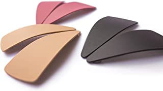 Modern Hair Clips In Soft Pastels for Women and Girls for Any Occasion, Mixed Set of 6 (Triangle, Color A)