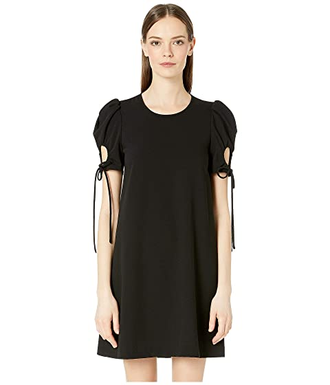 See by Chloe Drawstring Sleeve Crepe Mini Dress