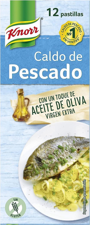 Knorr Caldo Pastilla Pescado, 12 Pastillas, 120g