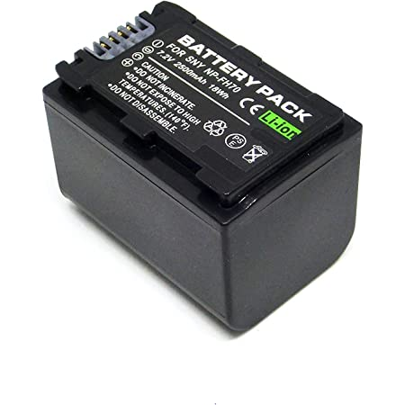 フォーチュン リチウムイオンバッテリー SONY NP-FH70 互換バッテリー HDR-CX7/HDR-CX12/HDR-SR7/HDR-SR8/HDR-SR11/HDR-SR12/HDR-HC9等対応