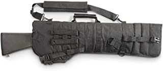 Golden Eye Tactical Rifle or Shotgun Scabbard Black w/ Carry handle and Padded Shoulder Strap