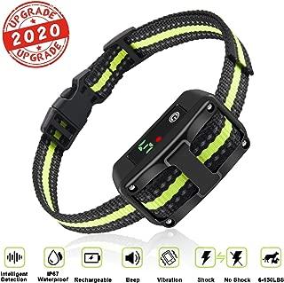 Dog Bark Collar, 2 Anti Barking Modes w/5 Adjustable Sensitivity Levels for Small, Medium and Large Dogs, Premium Barking Training Collar with Beep Vibration and No Harm Shock