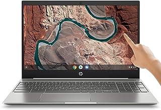 "2019 Flagship HP Chromebook 15.6"" IPS FHD 1080p Touchscreen Core i3-8130u 4GB 128GB eMMC Ceramic White"