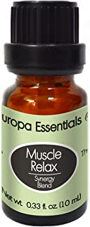 Europa Essentials Muscle Relax Achy Body Relief Synergy Essential Oil Blend - 100% Pure Therapeutic Grade, Aromatherapy Blend w/Clove, Peppermint, Helichrysum, Wintergreen & Jojoba, 10ml
