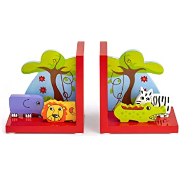 Set of 2 Wild Animal Bookends by Legler