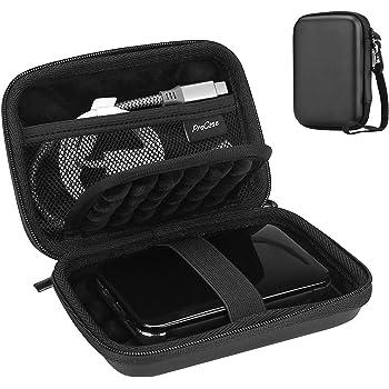"ProCase Portable Hard Drive Case for Canvio Basics Western Digital WD Elements My Passport Seagate Portable Backup Plus Slim 1TB 2TB 3TB 4TB USB 3.0, 2.5"" Portable External Hard Drive Case -Black"