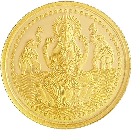 Malabar Gold & Diamonds 24k (999) Goddess Lakshmi 2 gm Yellow Gold Coin
