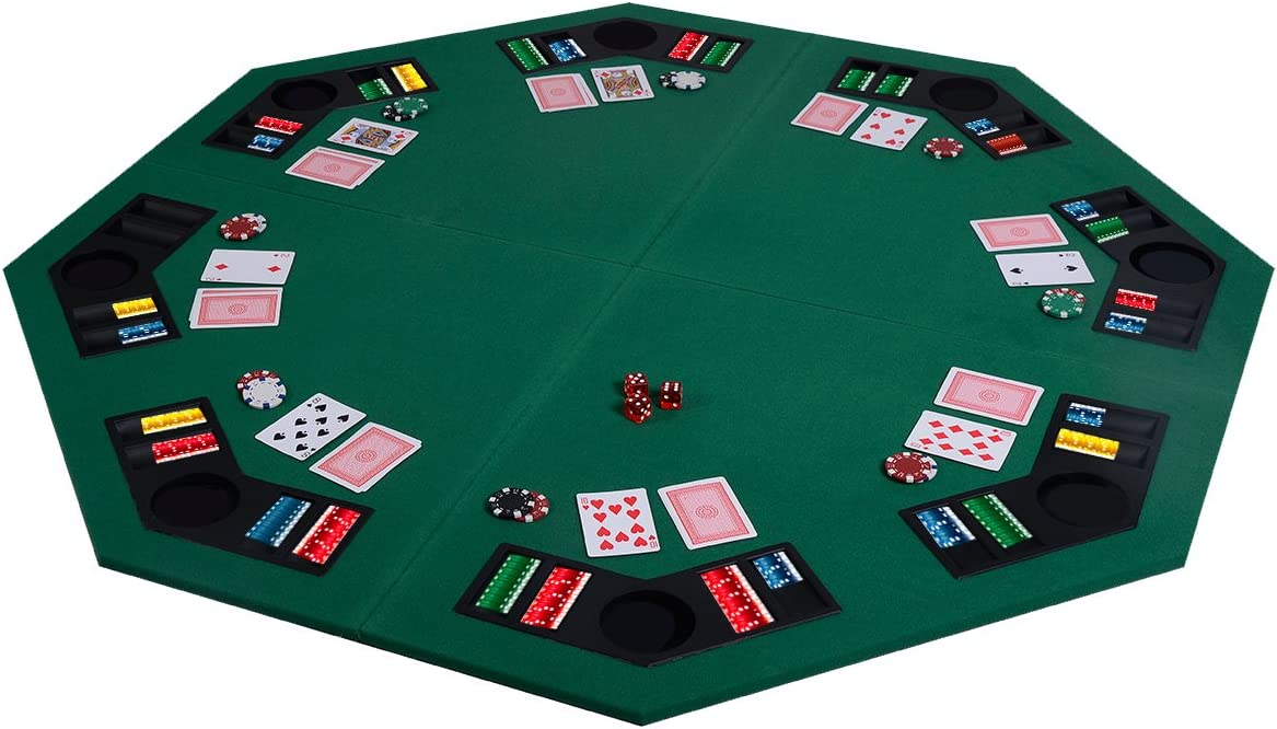 HAPPYGRILL Folding Poker Table Top Large wi 48
