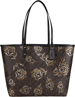 Ribbon Bouquet Print Reversible City Tote