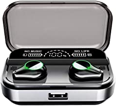 Bluetooth 5.0 Wireless Earbuds,True Wireless Earbuds with Microphone,Equip 3500mAh Charging Case LED Digital Shows Charging Charge,Wireless Headphones IPX7 Waterproof bass 3D Stereo Sound Headset