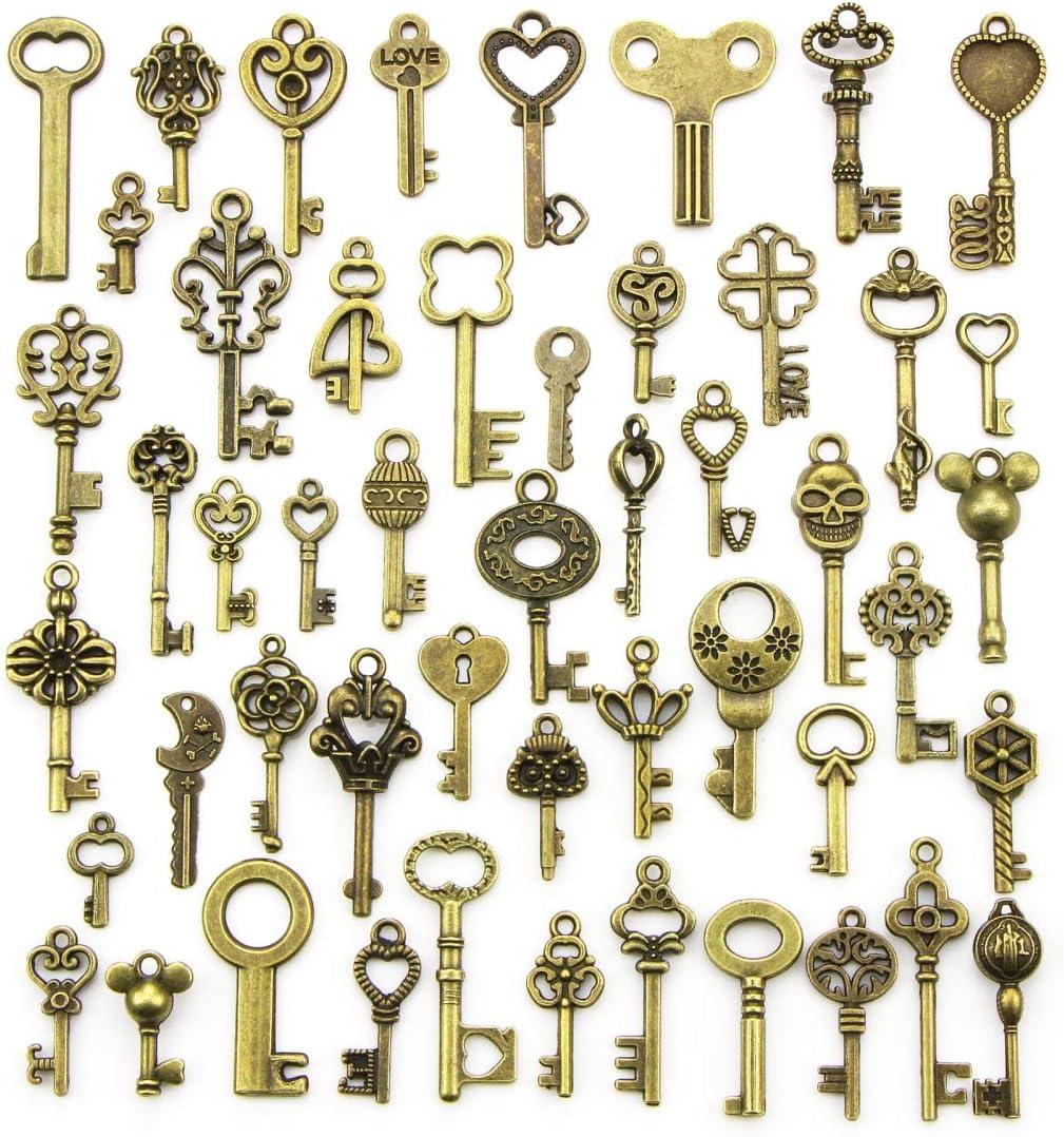 YMWALK Antique Bronze Keys Charm Set Random Shapes Cheap bargain Pendants Ranking TOP5 Si