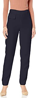 Women's Classic Tapered Trouser with Overlap Waistband...
