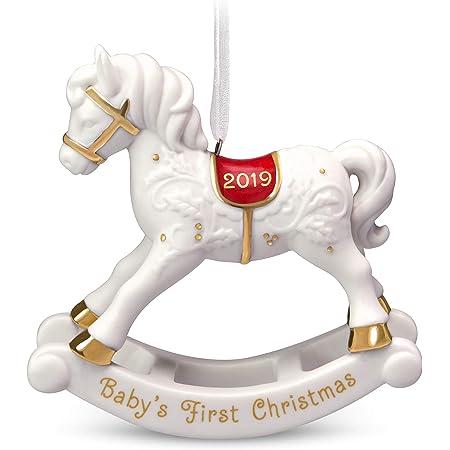 Belleek Baby/'s 1st Christmas Rocking Horse