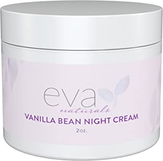 Vanilla Bean Night Cream by Eva Naturals (2 oz) - Best Anti-Aging Night Cream Boosts Collagen and Hydrates Complexion - Helps Protect against Damage and Nourish Skin - With Vitamin E and Green Tea