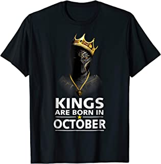 Kings Are Born In October Gift Shirt For Panther's Lover