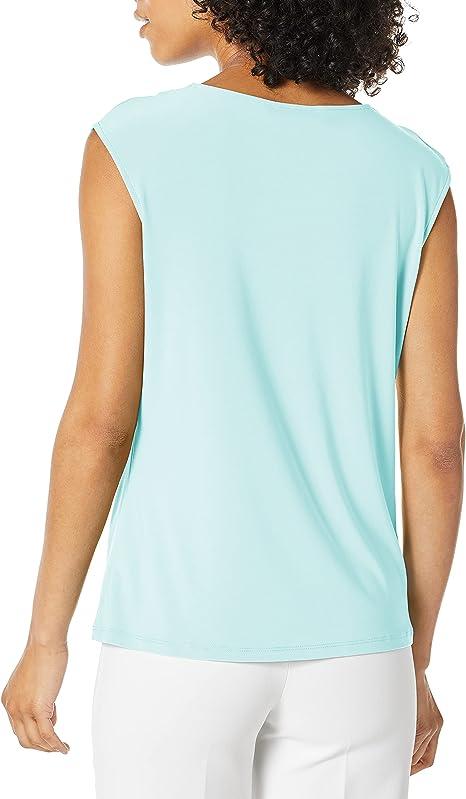 Choose SZ//color Details about  /Kasper Women/'s Cap Sleeve Criss-Cross Solid Ity
