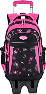 Rolling Backpack, Fanspack Backpack with Wheels for Girls or Boys