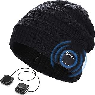 LNKK Bluetooth Beanie Hat, Stylish Knitted Music Beanie Hat Cap with HD Stereo Headphones Earphones Headset Speaker Mic Hands-Free Talking for Men Women Winter Outdoor Fitness