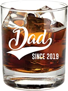 New Dad Gifts- 11oz Funny Whisky/Cocktail Glass- Great Gift for Dad to Be, Expectant Father, Dads, Daddy to be