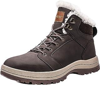 [visionreast] 23.0-29.0cm スノーシューズ メンズ レーディス 防寒靴 防水 ワークブーツ 裏起毛 レースアップ ショートブーツ バイク 靴 短靴 トレッキングブーツ 雪対応 アウトドア 防滑