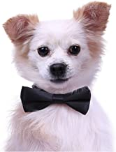 HDE Dog Bow Tie Collar for Small and Medium Dogs Cats Pets Adjustable Bowtie