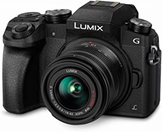 PANASONIC LUMIX G7 4K Digital Camera, with LUMIX G VARIO 14-42mm MEGA O.I.S. Lens, 16 Megapixel Mirrorless Camera, 3-Inch LCD, DMC-G7KK (Black)