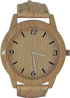 Trendy Wrist Watch - Quartz Movement - Faux Wood Face & Band - Unisex - Fashionable Gift Birthday/Holiday