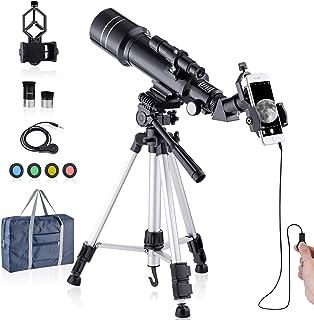 天体望遠鏡 セット 屈折天体望遠鏡初心者と子供向け 口径70mm 焦点距離400mm 高倍率HDポータブルスコープ - 天体観測 野鳥 観察